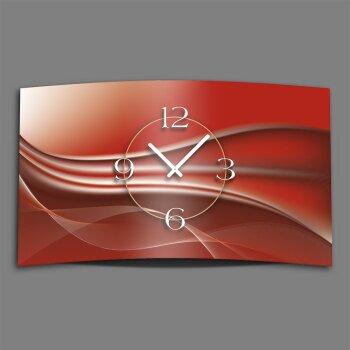 Abstrakt kupferrot Designer Wanduhr modernes Wanduhren Design leise kein ticken dixtime 3D-0018