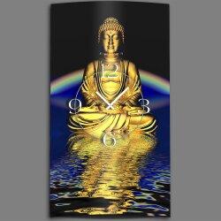 Motiv Buddha Zen Designer Wanduhr modernes Wanduhren...