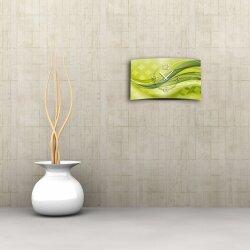 Abstrakt grün Designer Wanduhr modernes Wanduhren Design leise kein ticken dixtime 3D-0017