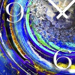Galaxy Weltall Designer Wanduhr modernes Wanduhren Design leise kein ticken DIXTIME 3DS-0314