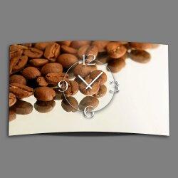 Motiv Kaffeebohnen Designer Wanduhr modernes Wanduhren...