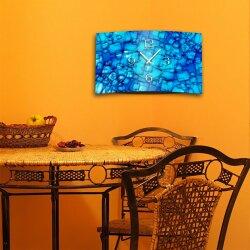 Abstrakt blau Designer Wanduhr modernes Wanduhren Design leise kein ticken dixtime 3D-0016