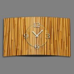 Motiv Bambus Natur Designer Wanduhr modernes Wanduhren...