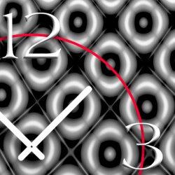 Retro Muster grau Designer Wanduhr modernes Wanduhren Design leise kein ticken DIXTIME 3DS-0281