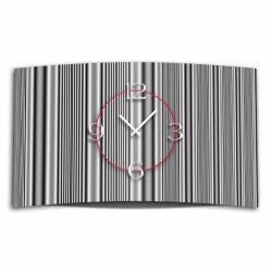 Muster Streifen grau Designer Wanduhr modernes Wanduhren...