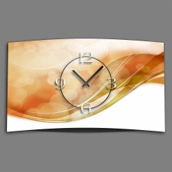 Abstrakt apricot Designer Wanduhr modernes Wanduhren...