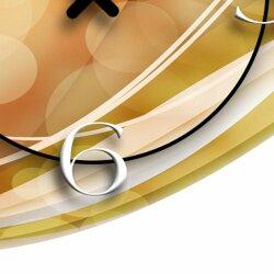 Abstrakt apricot Designer Wanduhr modernes Wanduhren Design leise kein ticken dixtime 3D-0012