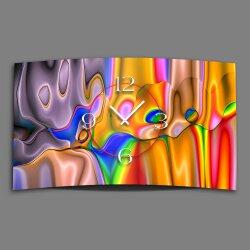 Digital Art Farbverlauf bunt Designer Wanduhr modernes...