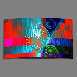 Digital Art Techno bunt Designer Wanduhr modernes...