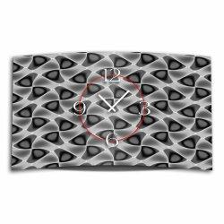 Abstrakt Muster grau schwarz Designer Wanduhr modernes...