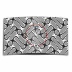 Abstrakt Muster grau Designer Wanduhr modernes Wanduhren...