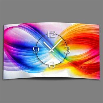 Abstrakt bunt Designer Wanduhr modernes Wanduhren Design leise kein ticken dixtime 3D-0010