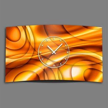 Abstrakt Kreise orange Designer Wanduhr modernes Wanduhren Design leise kein ticken dixtime 3DS-0245