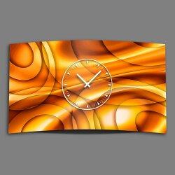 Abstrakt Kreise orange Designer Wanduhr modernes...