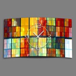 Abstrakt mosaik bunt Designer Wanduhr modernes Wanduhren...