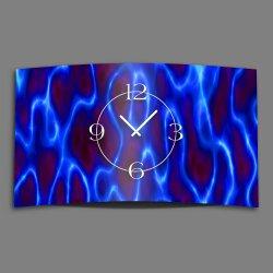 Abstrakt blau lila  Designer Wanduhr modernes Wanduhren...