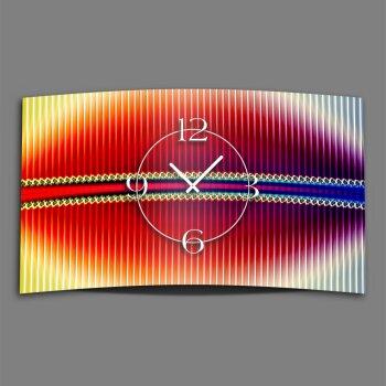 Psychodelic bunt Designer Wanduhr modernes Wanduhren Design leise kein ticken dixtime 3DS-0226