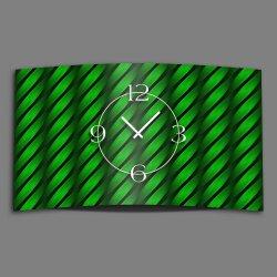 Abstrakt Welle grün Designer Wanduhr modernes...