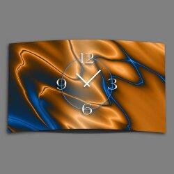 Abstrakt kobaltblau kupfer  Designer Wanduhr modernes...