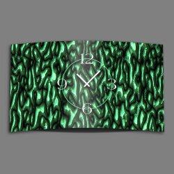 geschmolzenes Glas Gestein grün Designer Wanduhr...
