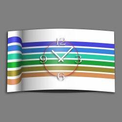 Streifen blau grün Designer Wanduhr modernes...