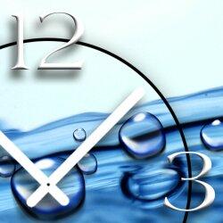 Wassertropfen Designer Wanduhr modernes Wanduhren Design leise kein ticken dixtime 3DS-0123