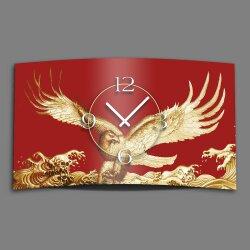 Goldadler rot Designer Wanduhr modernes Wanduhren Design...