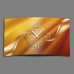 Abstrakt beige caramel Designer Wanduhr modernes...