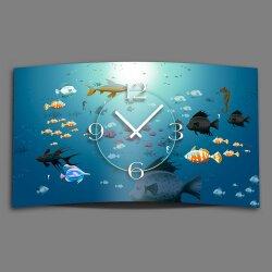 Fische im Meer Designer Wanduhr modernes Wanduhren Design...
