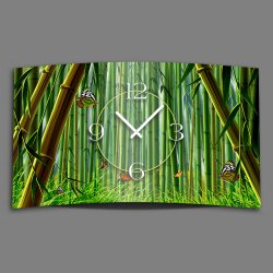 Bambus Schmetterlinge Designer Wanduhr modernes Wanduhren...
