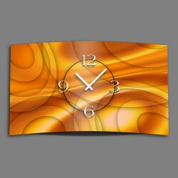 Abstrakt orange Designer Wanduhr modernes Wanduhren...