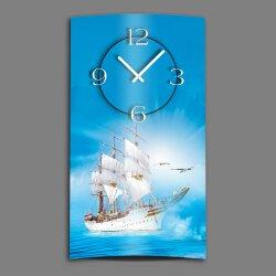 Segelschiff  Designer Wanduhr modernes Wanduhren Design...
