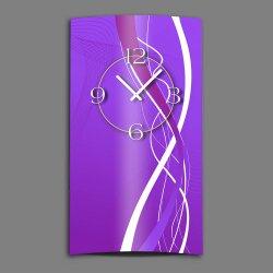 Abstrakt lila Designer Wanduhr modernes Wanduhren Design...