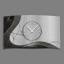 Abstrakt grau Designer Wanduhr modernes Wanduhren Design...