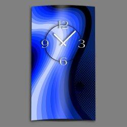 Abstrakt Retro blau Designer Wanduhr modernes Wanduhren...