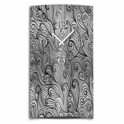 Abstrakt Zendoodle Ornament hochkant Designer Wanduhr...