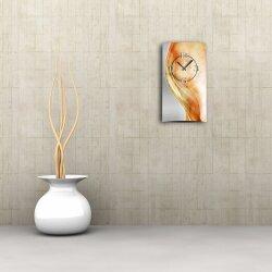Abstrakt apricot hochkant Designer Wanduhr modernes...