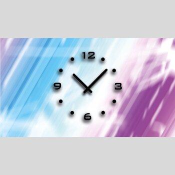 Abstrakt blau lila pink Designer Wanduhr modernes Wanduhren Design leise kein ticken dixtime 3D-0431