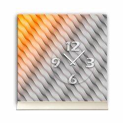 Tischuhr 30cmx30cm inkl. Alu-Ständer -grafisches...