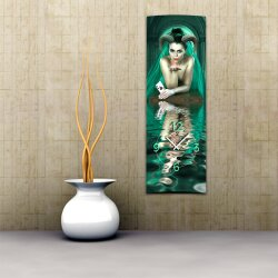 Wanduhr XXL 3D Optik Dixtime digital Frau Daemon 30x90 cm...