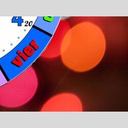 Bunte Kinder-Lernuhr Konfetti-Punkte, leise kein ticken, dixtime 3D-0433