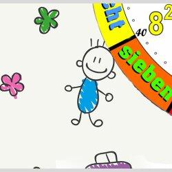 Kinder-Lernuhr buntes Malen und Zeichnen, leise kein ticken, dixtime 3D-0439