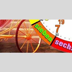 Märchen Kinder-Lernuhr Kutsche und Schloß, leise kein ticken, dixtime 3D-0440