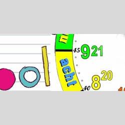 Modern-Stylische Kinder-Lernuhr Ringbuch, leise kein ticken, dixtime 3DS-0437