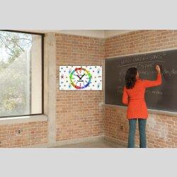 Kinder-Lernuhr buntes Malen und Zeichnen, leise kein...