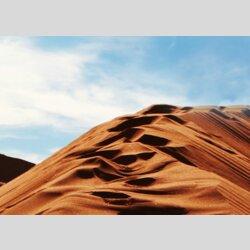 Tischuhr 30cmx30cm inkl. Alu-Ständer -modernes Design Landschaft Wüste geräuschloses Quarzuhrwerk -Wanduhr-Standuhr TU6006 DIXTIME