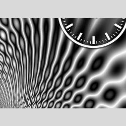 Tischuhr 30cmx30cm inkl. Alu-Ständer -modernes Design grau geräuschloses Quarzuhrwerk - Wanduhr-Standuhr TU3158 DIXTIME