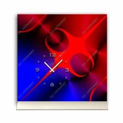 Tischuhr 30cmx30cm inkl. Alu-Ständer - abstraktes...