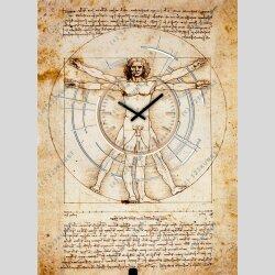 Dixtime Designer Wanduhr, 30cm x 40cm Wanduhren, stilvolle Wohnraumuhr, zeitloses Design,3750-0009