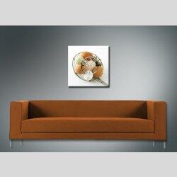 3661 Dixtime Designer Wanduhr quadratische ausgefallene Küchenuhr Motiv Eier